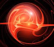 Brightly red fractal background Stock Photo