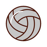Brightly volley ball cartoon. Cute brightly volley ball cartoon vector graphic design royalty free illustration