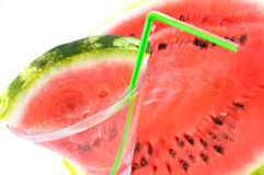 Brightly watermelon slices. Stock Image
