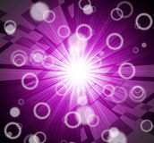 Brightness Background Shows Dazzling Beams And Circles Stock Photos