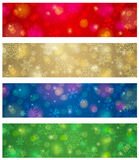 Brightness color christmas banners, vector Stock Photography