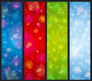 Brightness color christmas banners, vector Stock Images