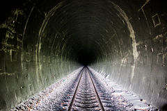 Brightness at the end of the tunnel Royalty Free Stock Images