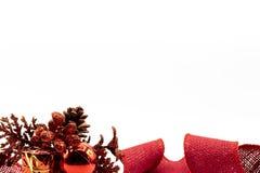 Brightness gift in linen ribbon royalty free stock photos