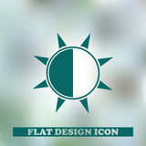 Brightness Icon Vector Eps and Jpg. Brightness web Icon Vector Eps Royalty Free Stock Photo