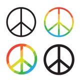 Brightness Rainbow peace symbol on white background Royalty Free Stock Images
