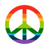 Brightness Rainbow peace symbol Royalty Free Stock Image