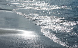 Brightness of the sun in water Royalty Free Stock Image
