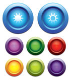Brightness up-down button set. Stock Photography