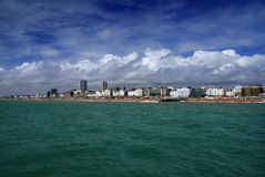 Brighton. British town of Brighton seen from the pier stock images