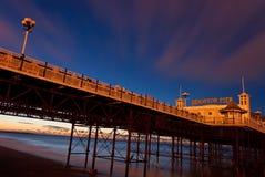 Brighton. Beach Pier at sunrise-Brighton,England stock photo