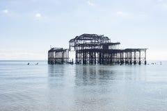 Brighton Ancient Pier imágenes de archivo libres de regalías