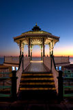 Brighton Bandstand al tramonto Fotografia Stock Libera da Diritti