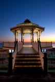 Brighton Bandstand en la puesta del sol Fotografía de archivo libre de regalías