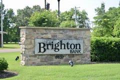 Brighton Bank, Brighton, Tennessee stock afbeelding