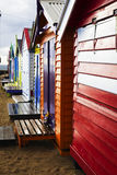 Brighton Bathing Boxes Fotografia Stock