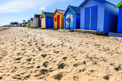 Brighton Bathing Boxes Beach Houses Fotografia de Stock Royalty Free