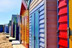 Brighton Bathing Boxes Beach Houses royalty free stock photos