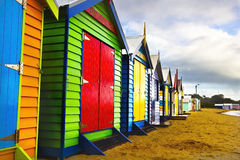 Brighton Bathing Boxes Stock Image