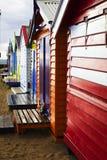 Brighton Bathing Boxes Stock Photography
