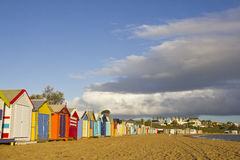 Brighton Bathing Boxes Stock Photography