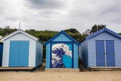 Brighton Bay Beachhouses image libre de droits