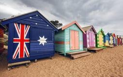 Brighton Bay Beachhouses photographie stock libre de droits