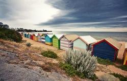 Brighton Bay Beachhouses Royalty Free Stock Photo