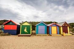 Brighton Bay Beachhouses Stock Photos