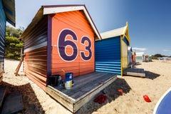 Brighton Bay Beachhouses Stock Images