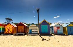 Brighton Bay Beachhouses Royalty Free Stock Image