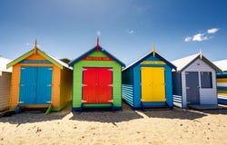 Brighton Bay Beachhouses Royalty Free Stock Photography