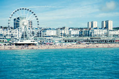 Brighton Beach Foto de Stock Royalty Free