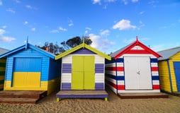 Brighton beach boxes Stock Image
