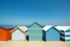 Brighton Beach Boxes, Melbourne, Australia immagini stock