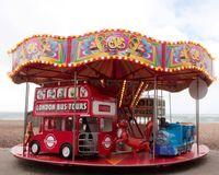 Brighton beach children carrousel Royalty Free Stock Photo