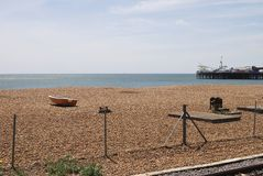 Brighton beach. East Sussex. England Royalty Free Stock Photo