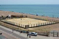 Brighton Beach england Royaltyfri Bild