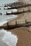 Brighton Beach Groynes Stock Photos