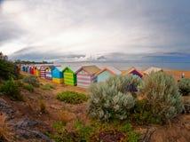Brighton beach houses at dawn, Australia Royalty Free Stock Image