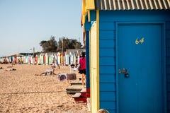 Brighton Beach Huts Fotografía de archivo libre de regalías