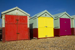 Brighton beach huts Stock Images