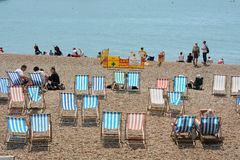 Brighton Beach l'angleterre Photographie stock