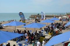 Brighton Beach l'inghilterra Fotografia Stock