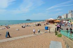 Brighton Beach l'inghilterra Fotografie Stock Libere da Diritti