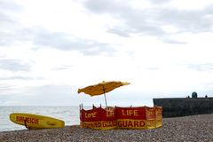 Brighton: beach life guard surf rescue Stock Photography