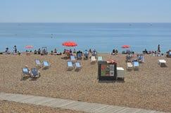 Brighton Beach, Ost-Sussex, England Stockbilder