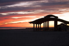 Brighton Beach Pavillion at sunset Royalty Free Stock Photos