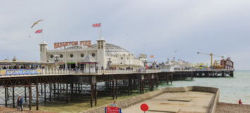 Brighton beach and pier Stock Photo