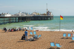 Brighton beach and pier, England Royalty Free Stock Photography